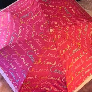 Coach Signature Umbrella
